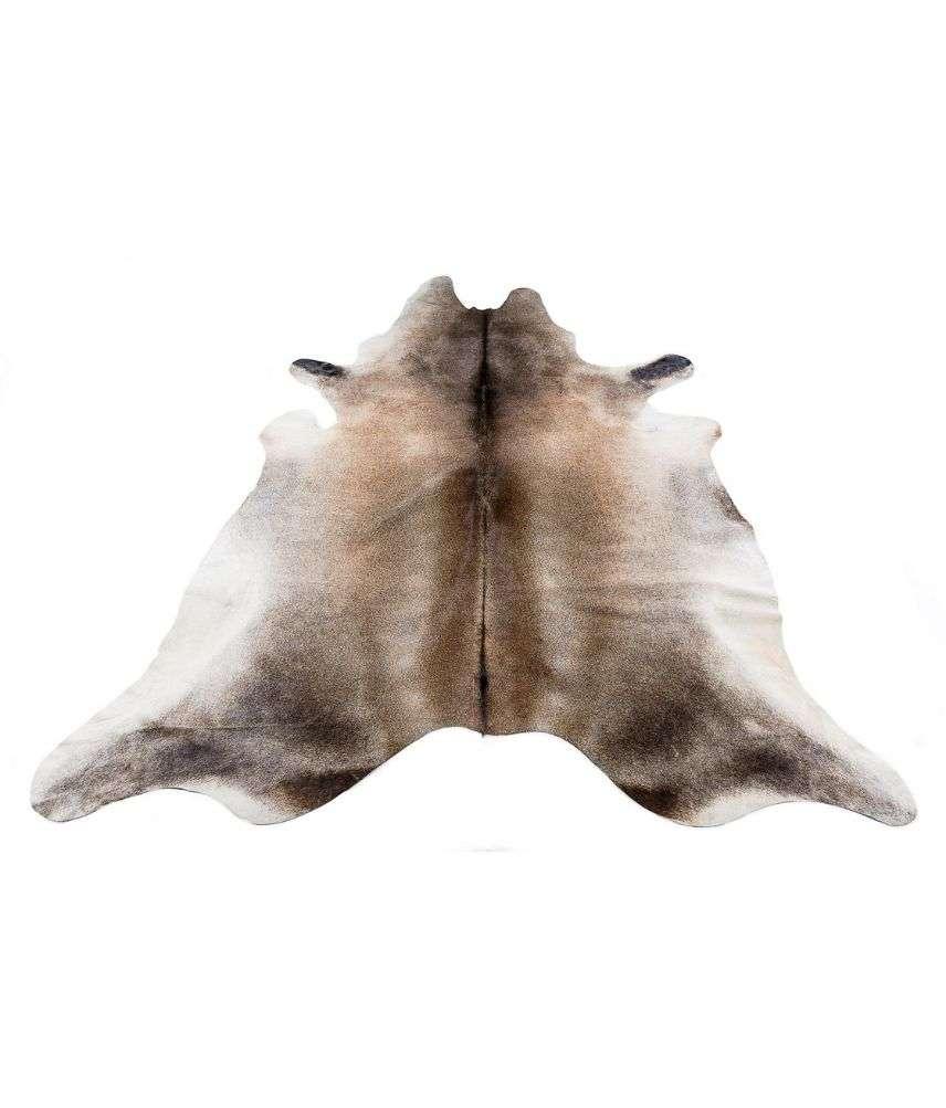 שטיח עור פרה טבעי בשילוב שחור-חום